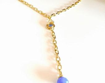 Light blue crystal necklace