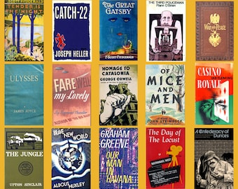 Custom Book Lovers Poster - First Editions Poster - Vintage Books Poster - Novel Lovers Poster
