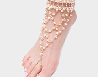 Pearl Bare Foot Sandal
