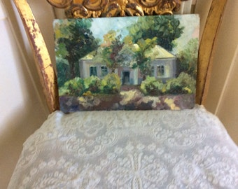 Antique Oil Painting. Lots of pallet Knife, Impressiomism