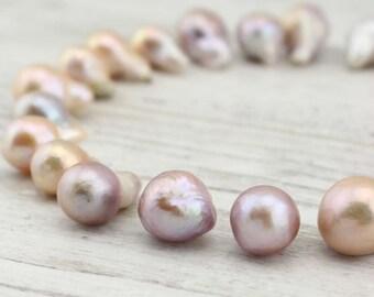 14-16 mm freshwater nucleus pearl beads, keshi pearls, freshwater pearls, natural pearls, 5 pearls for a listing, wholesale, Z 154