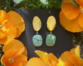 Paper-gemstone earring [Birthmonth_March]