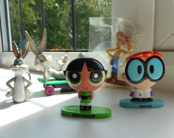 Woody in packaging, Dexter and Buttercup, Bugs Bunny Keyring and on skateboard
