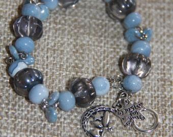 Denim Opal charm bracelet