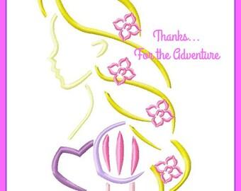 Rapunzel from Tangled Sketch Digital Embroidery Machine  Design File 4x4 5x7 6x10