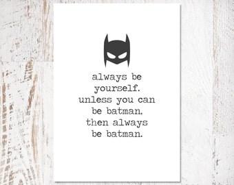 Batman Print (Digital Download) A4