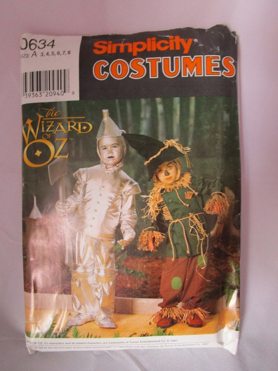 Wizard of oz Simplicity CostumePattern