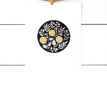 Gift For Wife, Floral Print, Flower Art Print, Block Print Art, Printmaking, Black Art, Lino Print, Lino Cut, Nature Prints, Botanical Art