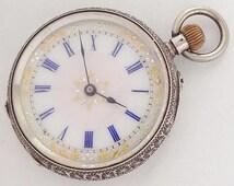 Swiss made Victoria Ladies  pocket antique watch.