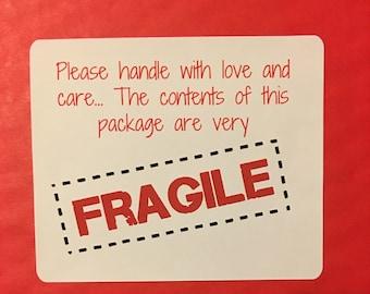 FRAGILE labels, fragile package labels, fragile mailing labels, cuztomizable labels.