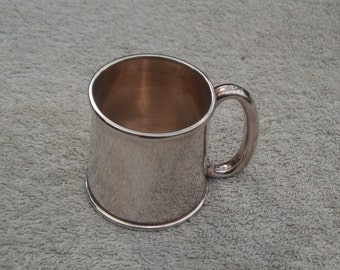 Silver Plated Mug Miniature Tankard Christening Cup - Silverplated Copper - Vintage Silverplate