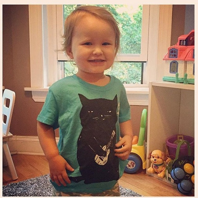 Baby in our Ukulele Cat tee!