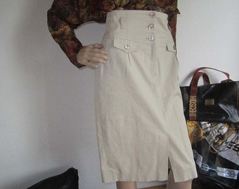 Vintage high waist pencil skirt rock Riani 40