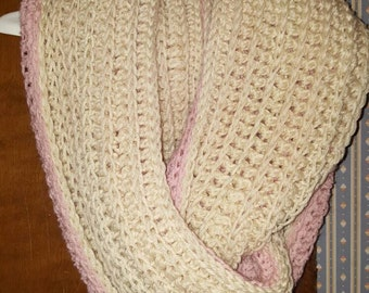 Reversible crochet scarf