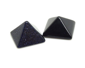 14mm blue sandstone pyramid Cabochon| UK cabochon supplier |gemstone cabochon|