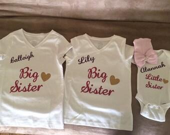 Little sister big sister shirt