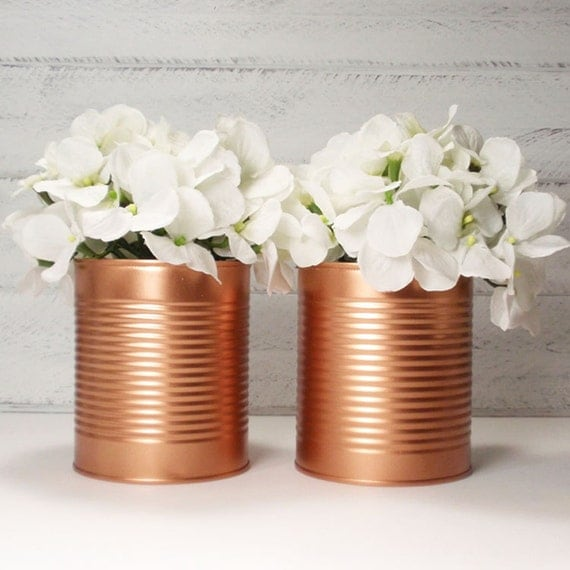 Brand New Trending Painted Tin Cans Wedding