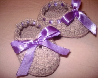 Baby Crochet  Baby Booties Crochet Baby/child's loafers Booties shoes -/Girl/Toddler/Child Newborn to 6 months