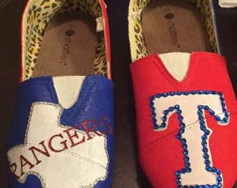 Texas Ranger canvas shoes