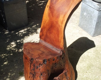 Nakashima Style CARVED WALNUT SEAT from 1950s