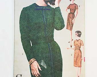 Advance 3046 Misses Dress Pattern | 60s Sheath Dress Pattern | 60s Sewing Pattern