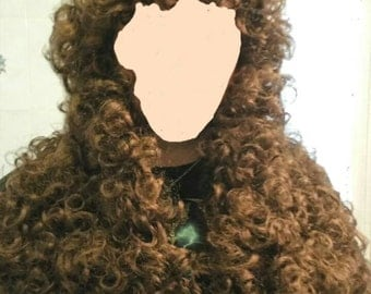 Louis XIV man wig long natural Brown.