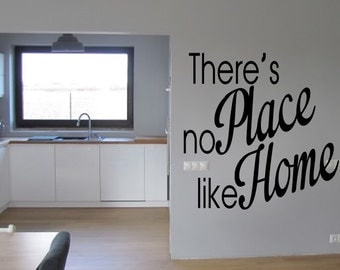 There's no Place like Home Inspirational  vinyl wall decor decoration Sticker family words  decal sticker cheap kitchen decorative Removable