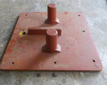 Large Red Square Industrial Mold