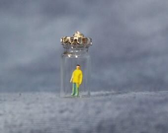 Miniature Diorama Man Pendant Jewelry