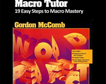 WordPerfect for Windows Macro Tutor -- 19 Easy Steps to Macro Mastery -- Instant Download eBook