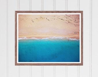 printable beach wall art, beach decor print, coastal wall art print, ocean wall art, sea print, california print, hawaii print, tropical art