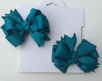 Simple blue hair clips