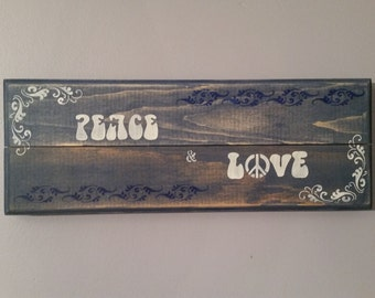 Peace and Love - Wall Sign