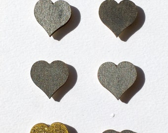 6 Mini Heart Magnets (20mm)