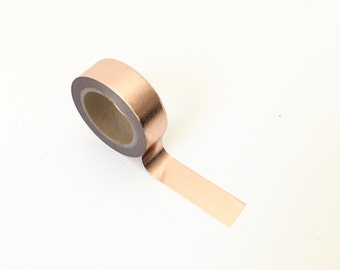 Washi tape pink gold / copper. 10 m