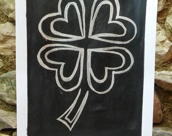Clover abstract painting