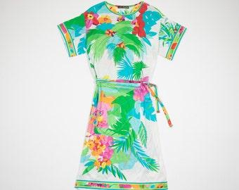 LEONARD multicolored floral cotton dress-floral cotton dress multicolor