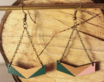 earrings made of wood - Aube - les païennes