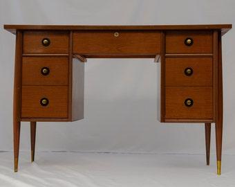 SOLDDONOTBUYSOLDMid Century Modern Walnut Desk in the Style of Arne Vodder