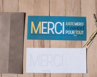 Carte Postale_Juste Merci | Carte | Impression | Postal card | Card | Print