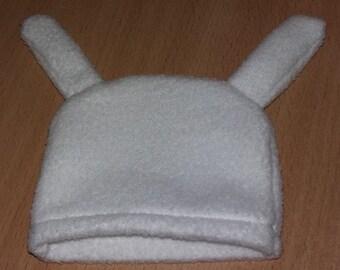 Bonnet white rabbit ears