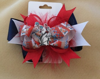 Dr. Suess Cat in the Hat hair bow