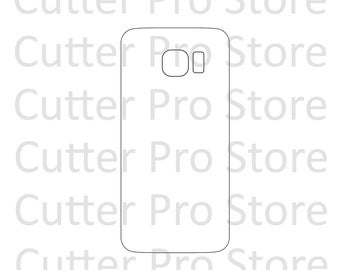 Samsung Galaxy S6 and S6 Edge Back Skin Template (SVG File)