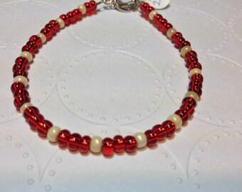 """ID# 295 RED ROCKS 7.75"""" bracelet"""