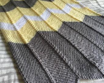 Yellow Chevron Baby Blanket