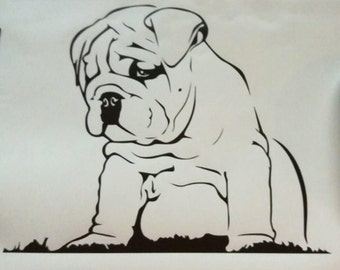 Bulldog decal