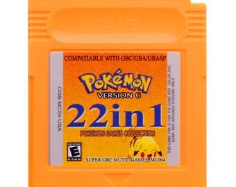 22 in 1 Pokemon GBC,Harvest moon... multi game card