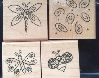 Wing Dings butterly stamps by CTMH