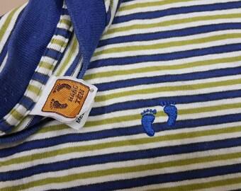 Vintage HangTen colourfull line design t-shirt made in usa