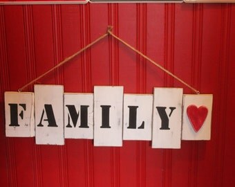 Family Pallet Sign Home Decor Distressed Wooden Wall Art
